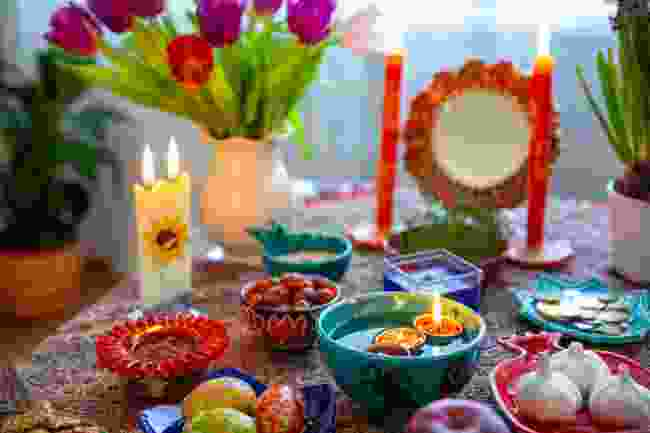 A haft-sin table (Shutterstock)