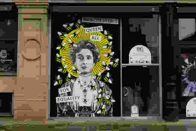Street art in Manchester dedicated to the Suffragette movement (Shutterstock)