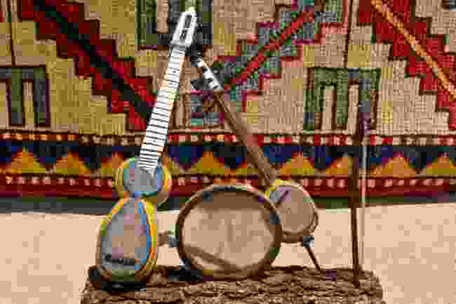 Traditional mugham instruments (Moviephoto/Shutterstock)