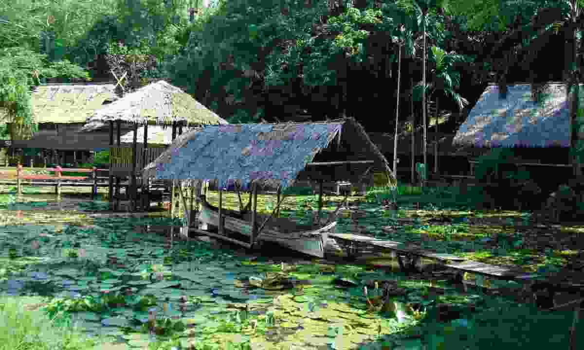Iban longhouse in Malaysia (Selective Asia)