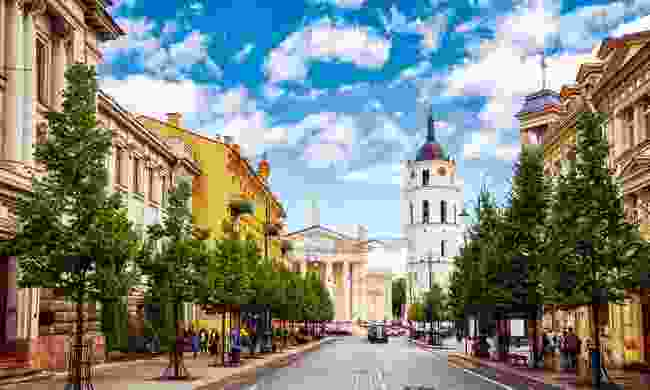 Vilnius's Cathedral Square is a popular shopping and dining location (Shutterstock)