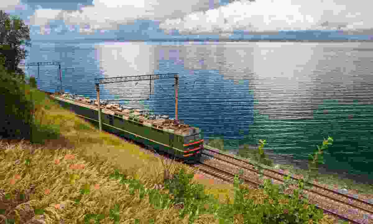 The Trans-Siberian near Lake Baikal (Dreamstime)