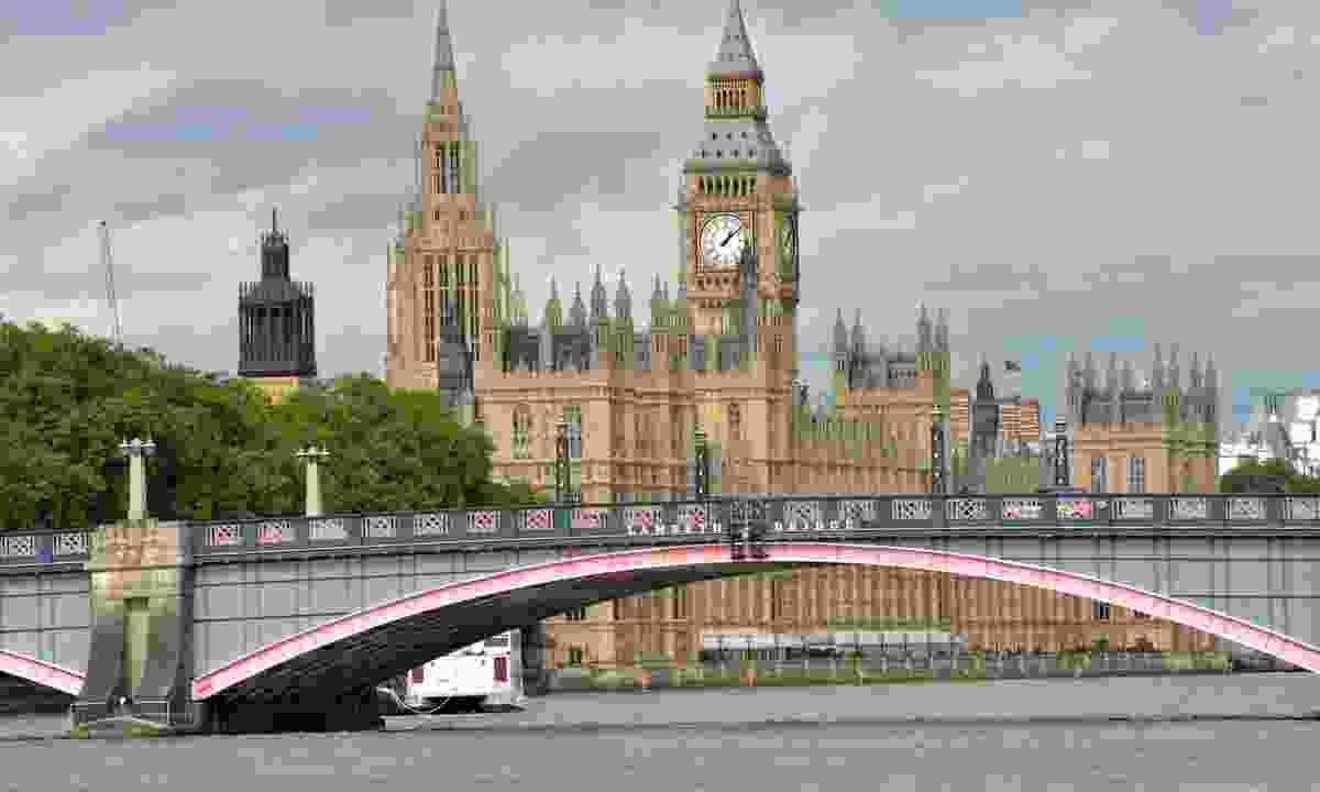 Lambeth Bridge, backed by Westminster (Dreamstime)