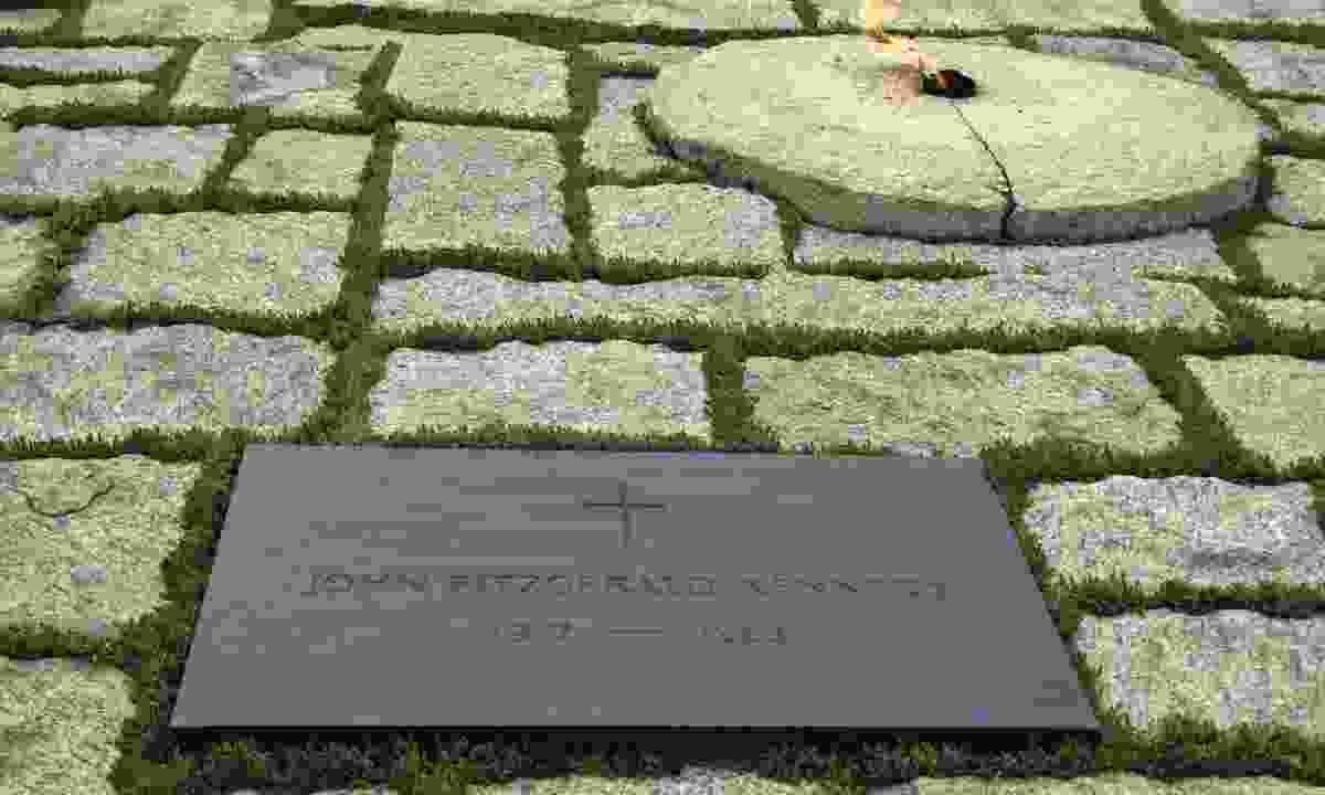 John F. Kennedy's grave at Arlington National Cemetery in Virginia (Dreamstime)