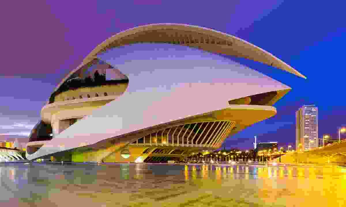 Palau de les Arts Reina Sofía in the evening (Dreamstime)