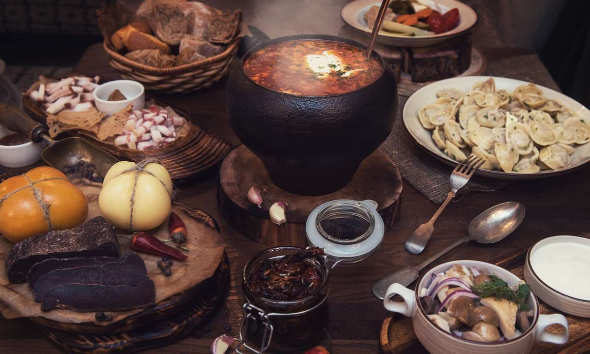 Hearty Russian food (Dreamstime)