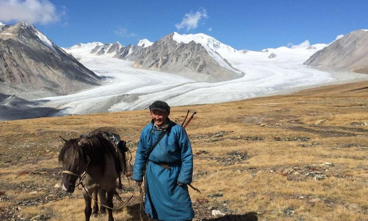 A nomad near Mount Khuiten (KE Adventure Travel)