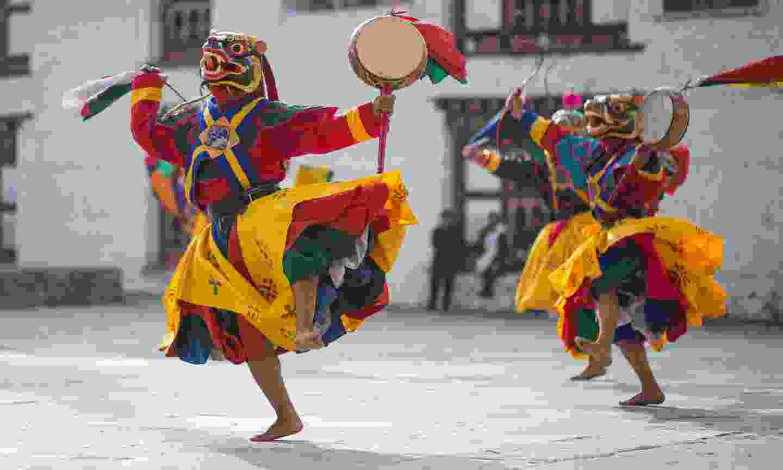 Traditional dance in Bhutan (Shutterstock)
