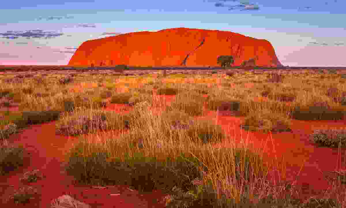 Uluru after sunset (Shutterstock)