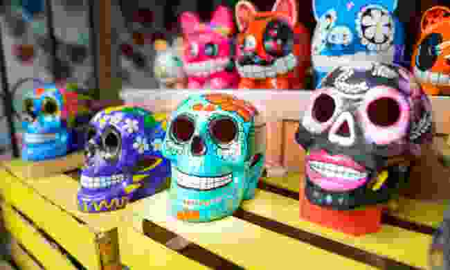 Traditionally crafted skulls (Dreamstime)