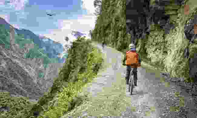 Cycling Yungas Road (Dreamstime)