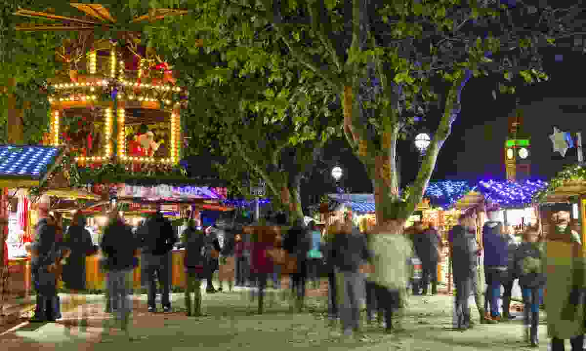 South Bank's Christmas market, London (Dreamstime)