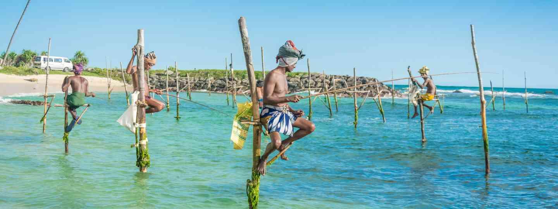 Traditional fishermen in Sri Lanka (Dreamstime)