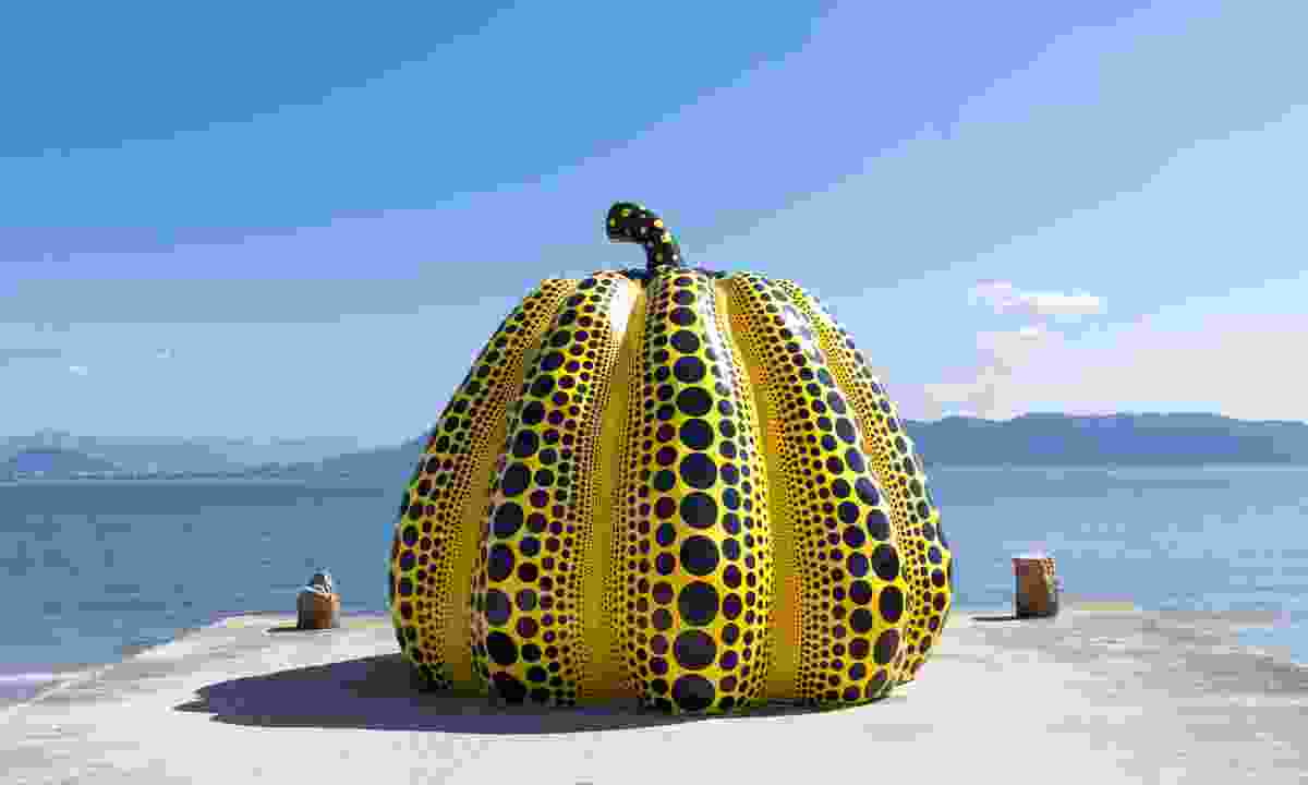 Giant pumpkin sculpture on Naoshima Island (Dreamstime)