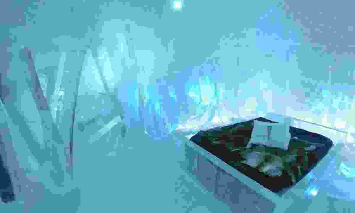 A room in the ice hotel, Sweden (Dreamstime)
