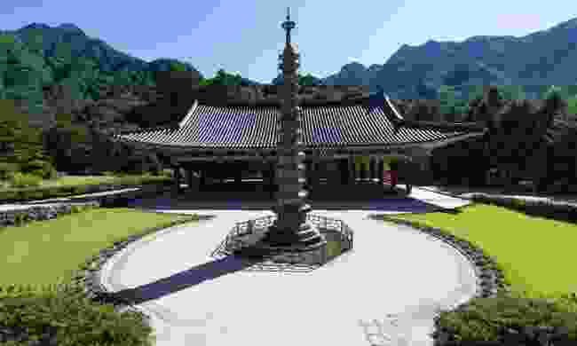 Pohyonsa Temple used to be one of the greatest centres of Buddhism in North Korea, Myohyang Mountains (Dreamstime)