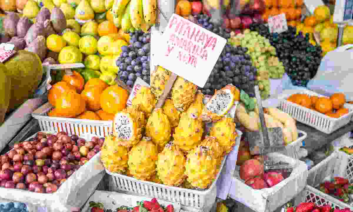 Fruit stall at the Surquillo market (Dreamstime)