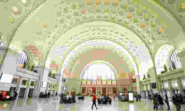 The beautiful interior of Washington's Union Station (Dreamstime)