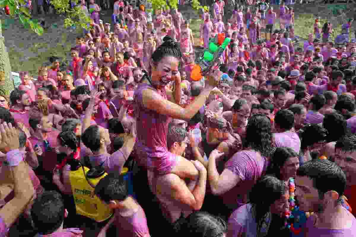 Batalla de Vino Festival in La Rioja, Spain (Shutterstock)