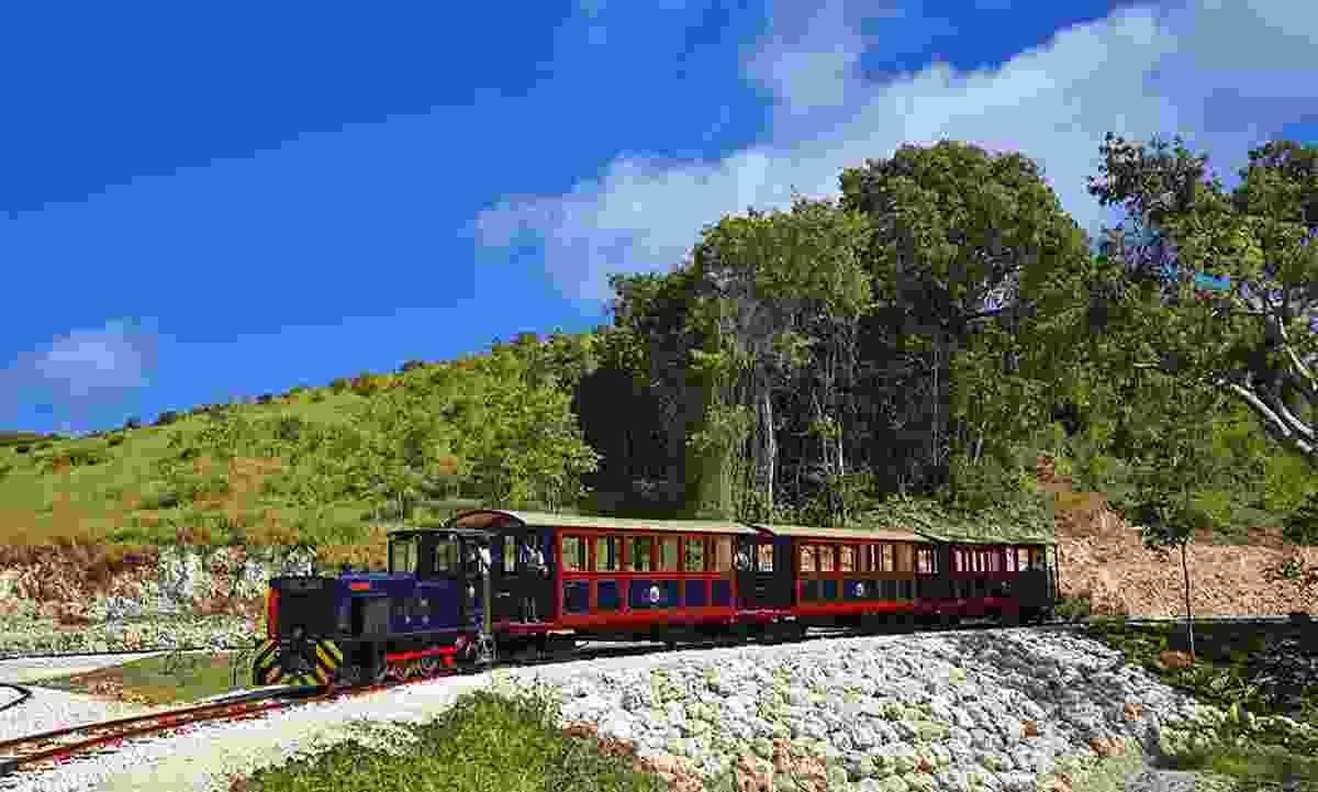 Wind through St Nicholas Abbey by train (Visit Barbados)