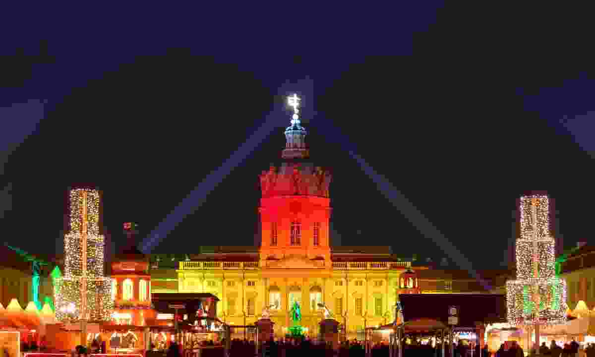 Charlottenburg Palace lights up during the Berlin Christmas Market, Germany (Shutterstock)