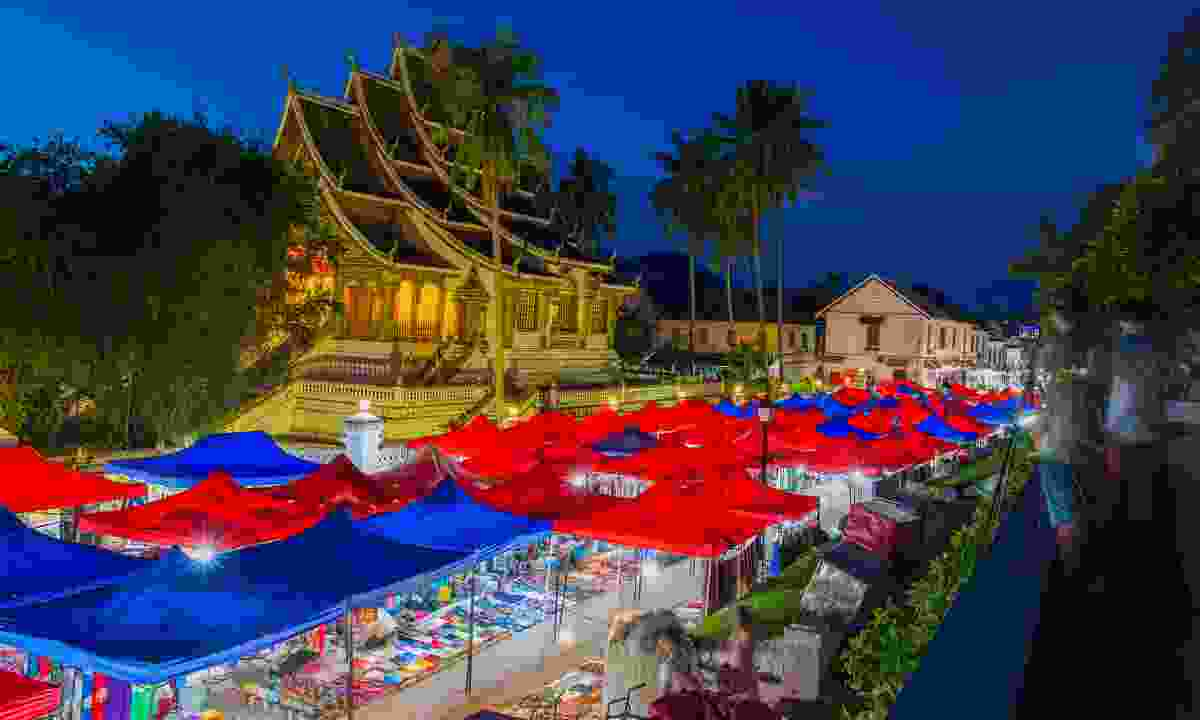 Luang Prabang's night market stretches for further than the eye can see (Shutterstock)