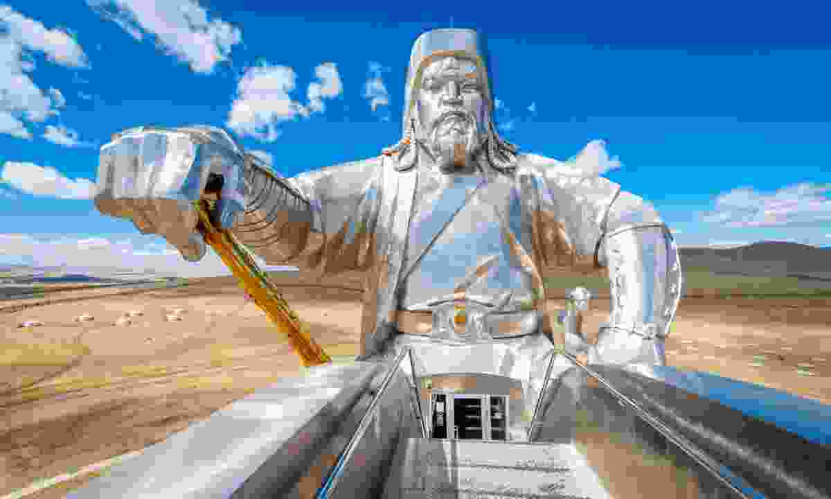 The world's largest statue of Genghis Khan, Mongolia (Shutterstock)