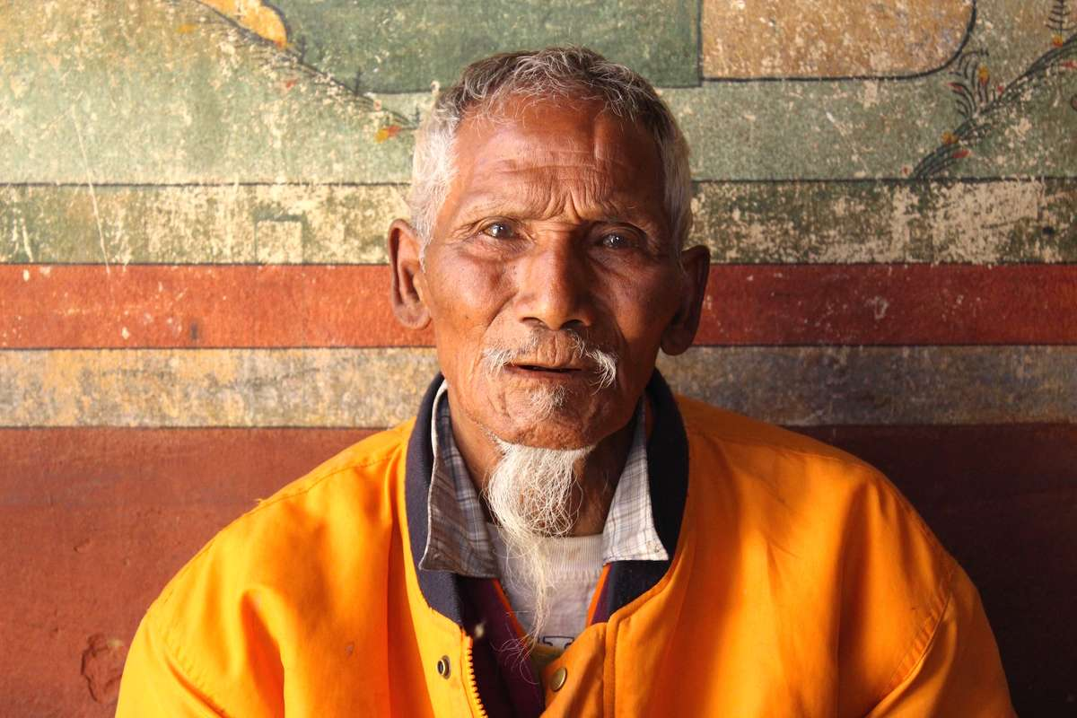 Old man at the Temple of the Divine Madman in Punakha, Bhutan (Graeme Green)