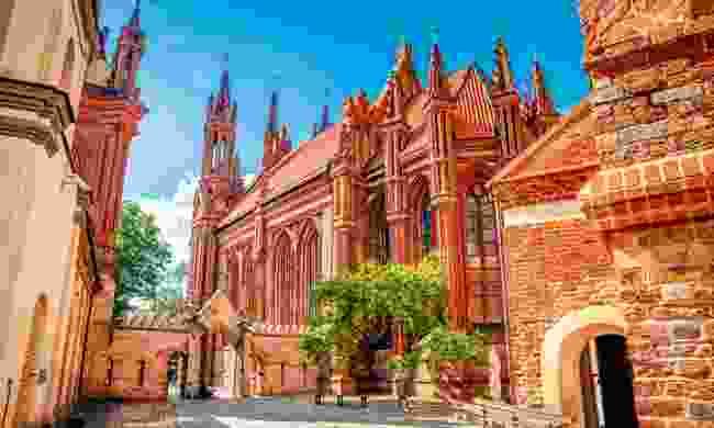 The gothic wonder of St Anne's church in Vilnius (Shutterstock)