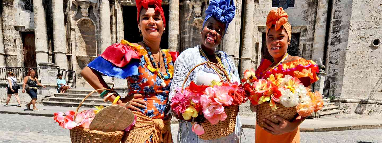 Cuban women in traditional dresses in Havana (Shutterstock)