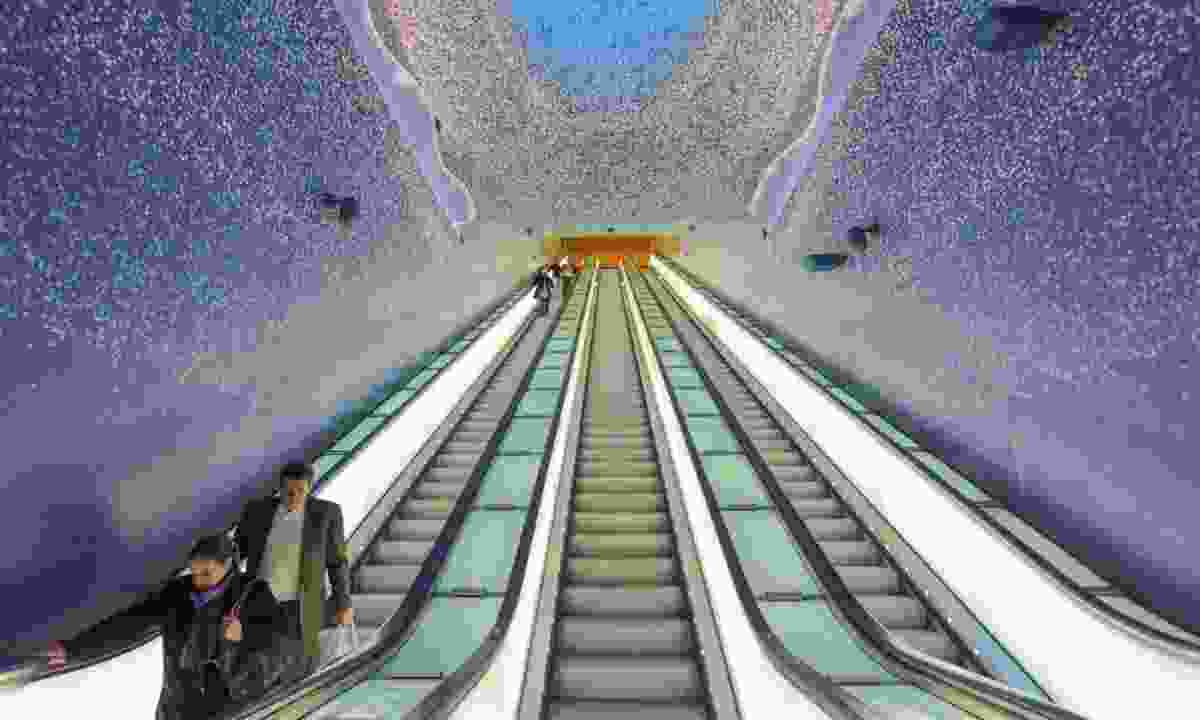The escalators of the Toledo underground station (Dreamstime)