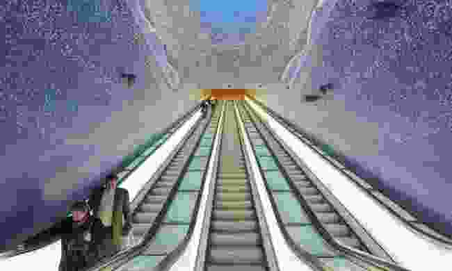 The escalators of the Toledo underground station (Dreamstime)
