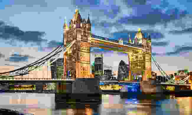 Tower Bridge, as viewed from Shad Thames (Dreamstime)