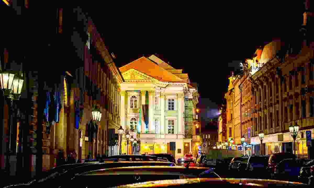 Mozart's old stomping ground at night (Dreamstime)