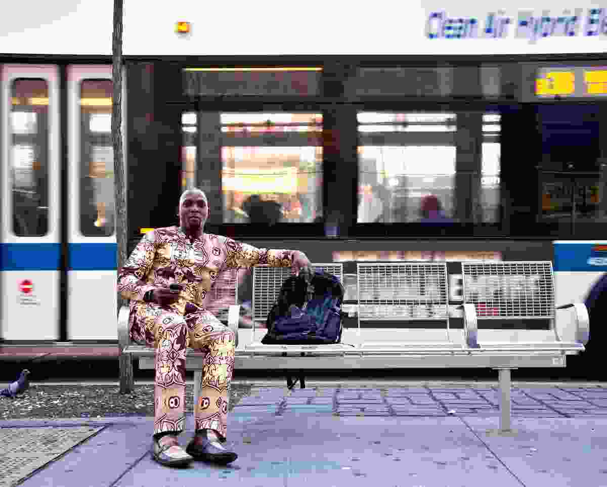 Waiting for a train, Fulton Street, Brooklyn (Richard Koek)