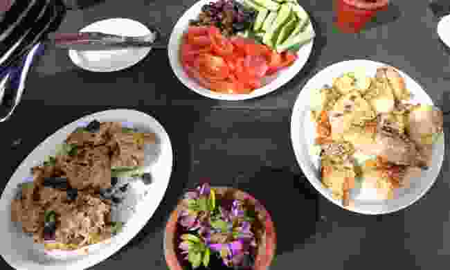 Typical lunch in Cyprus (Helen Moat)