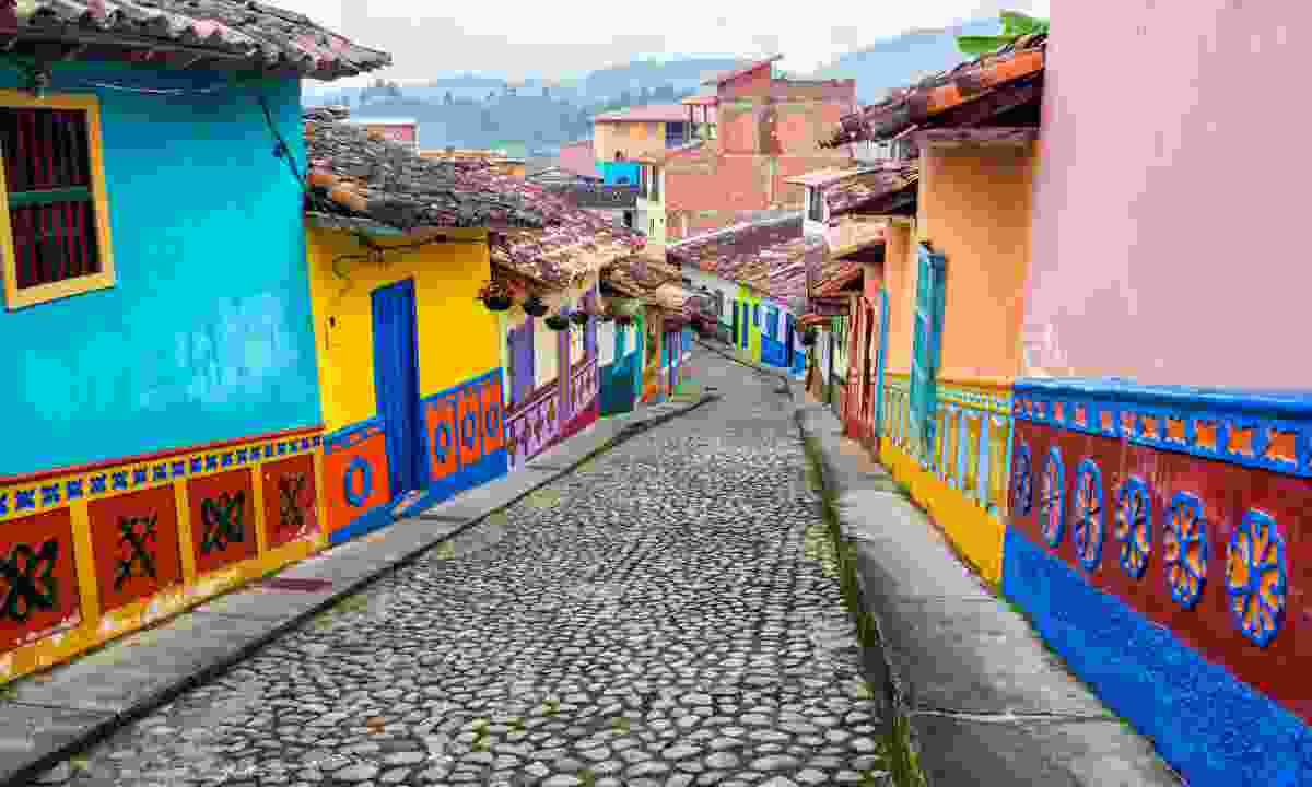 Colourful colonial houses in Guatape (Shutterstock)