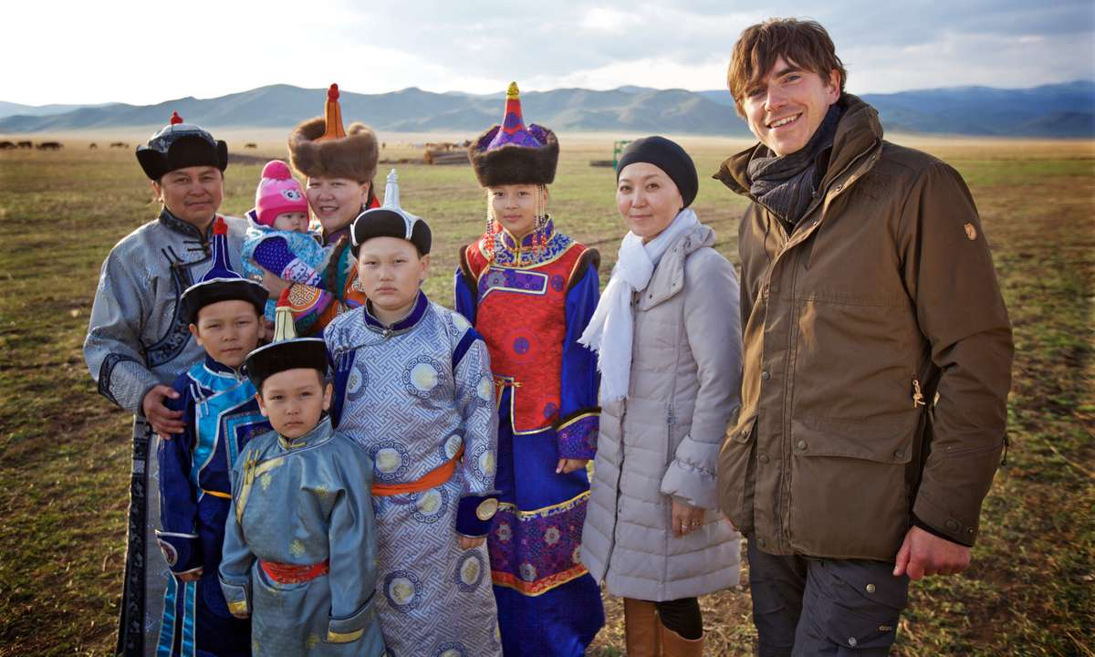Simon. On the steppes (Jonathan Young BBC)