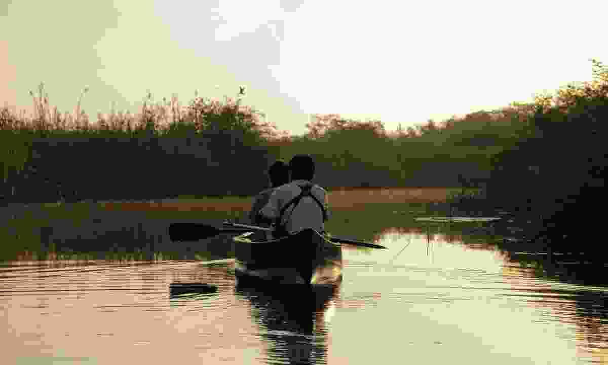 Rowing on the New River Lagoon (Simon Chubb)