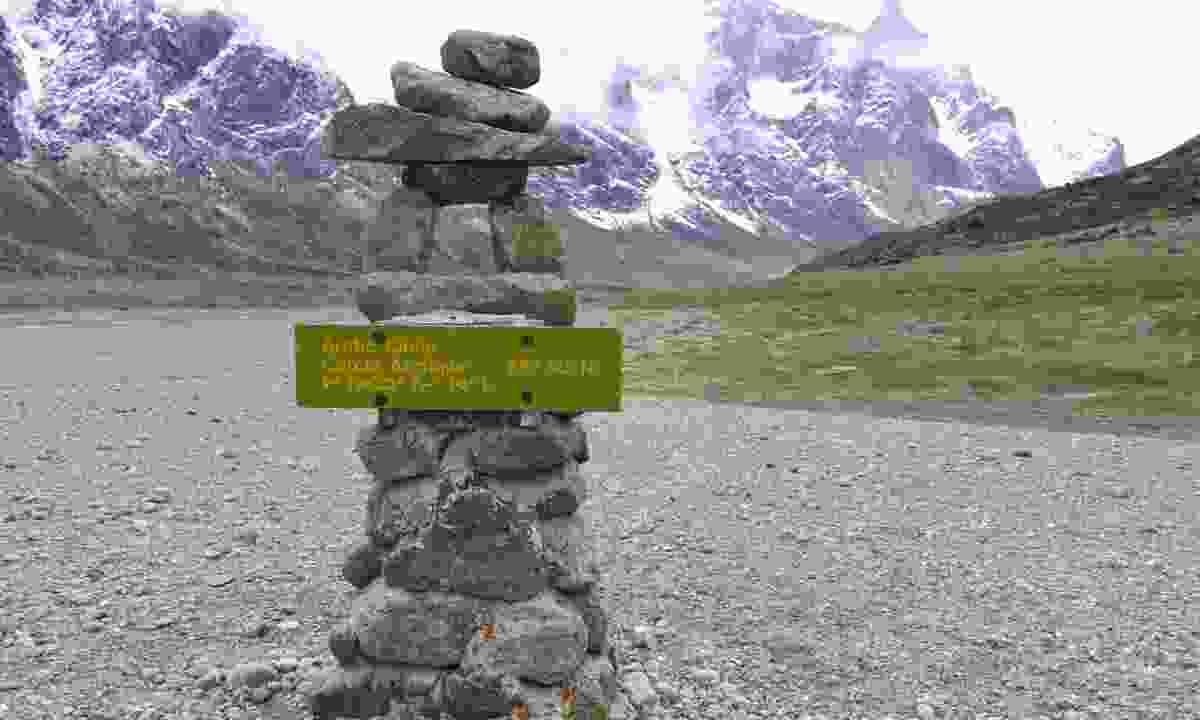 A traditional inuksuk marking the Arctic Circle (Lisa Young)