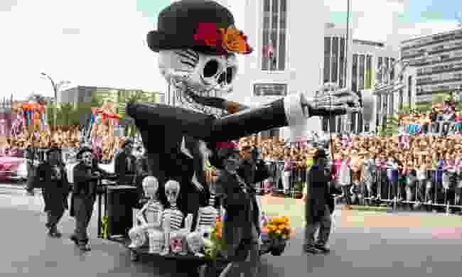 Day of the Dead parade through Mexico (Dreamstime)