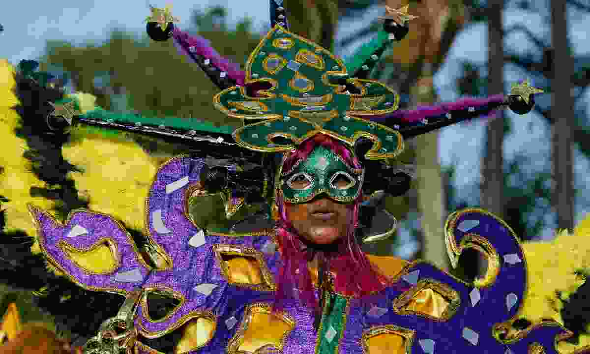 An participant in French Guiana's annual carnival (Dreamstime)