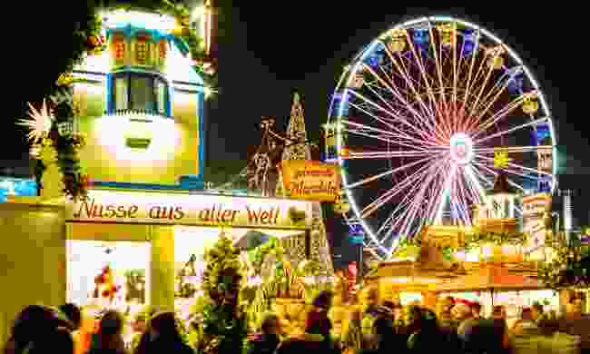 The Ferris Wheel at Leipzig's Christmas Market, Germany (Dreamstime)