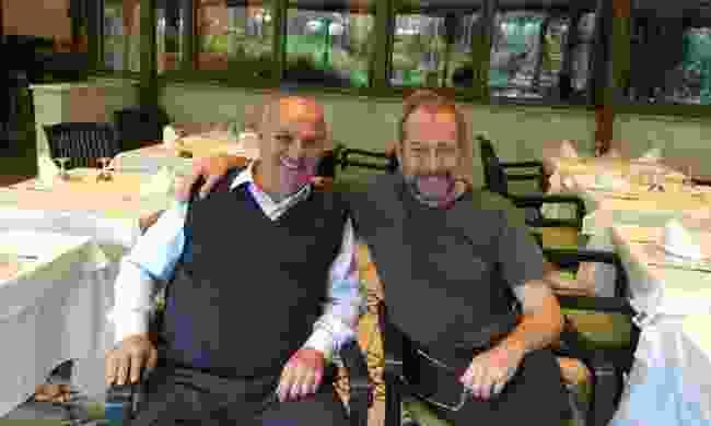 John and his friend Levent in Turkey (John Telfer)