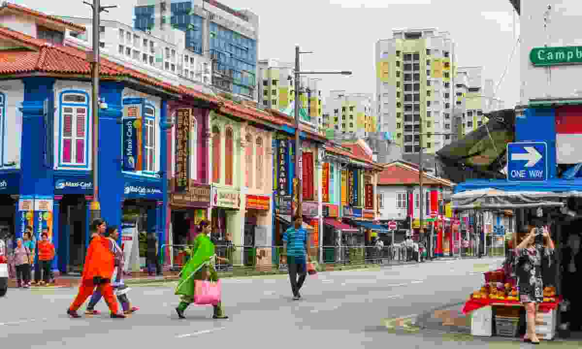 Colourful restaurants in Little India (Shutterstock)