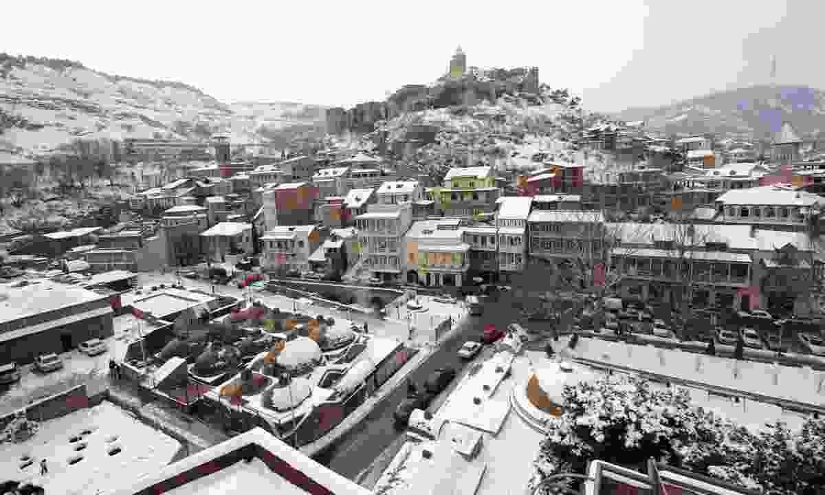 Abanotubani and Narikala Fortress, Old Town, Tbilisi (Steppes Travel)