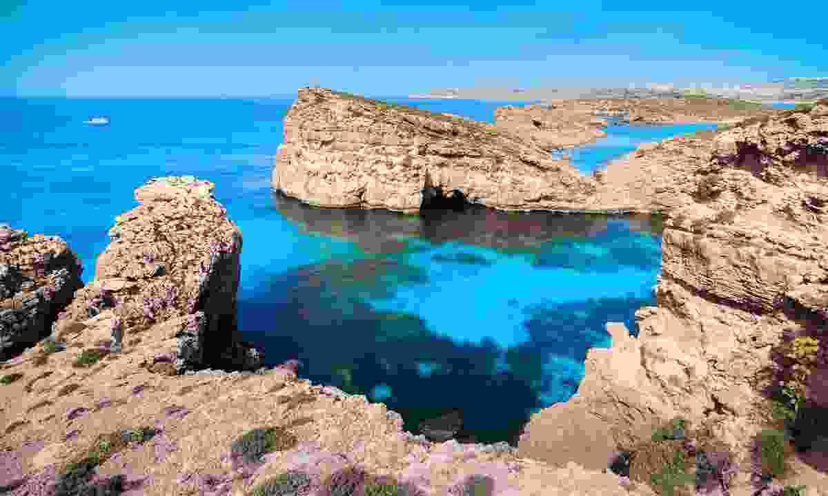 The Blue Lagoon on Malta's Camino Island (Shutterstock)
