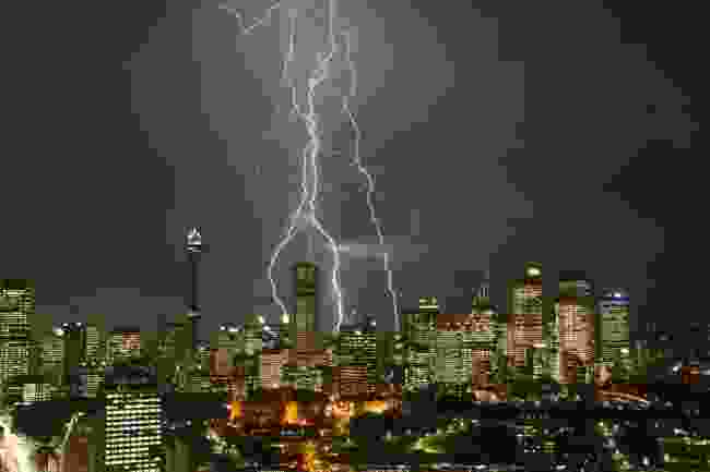A rather angry-looking Sydney lightning storm (Shutterstock)
