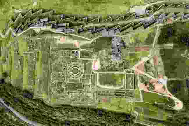 An aerial view of Saqsayhuman, Cusco, Peru (Shutterstock)