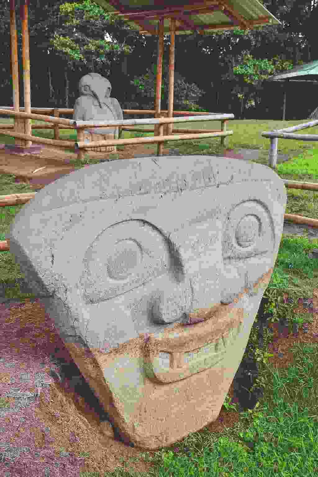 One of San Agustín's 500 burial statues (Simon Broughton)